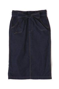 【先行予約_2月上旬お届け予定】ベルト付デニムタイトスカート