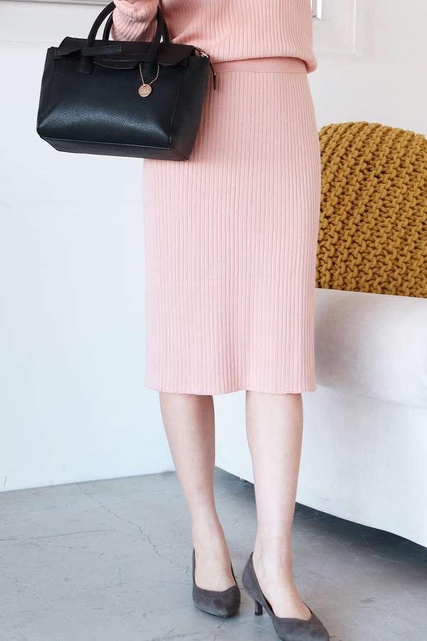 ワイドリブセットアップスカート