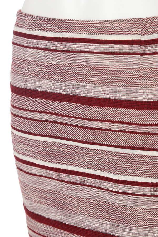 ボーダージャガードタイトスカート