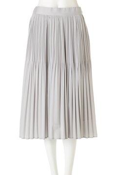 フィッシュテールサテンプリーツスカート