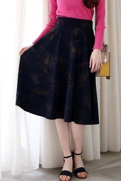 【先行予約_3月上旬お届け予定】ビッグフラワーフレアスカート