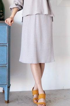 【and GIRL4月号掲載 中村アンさん着用】カットワイドリブセットアップスカート