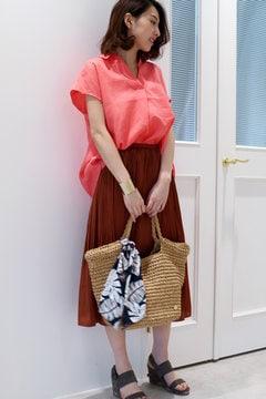 消しプリーツフレアミモレスカート