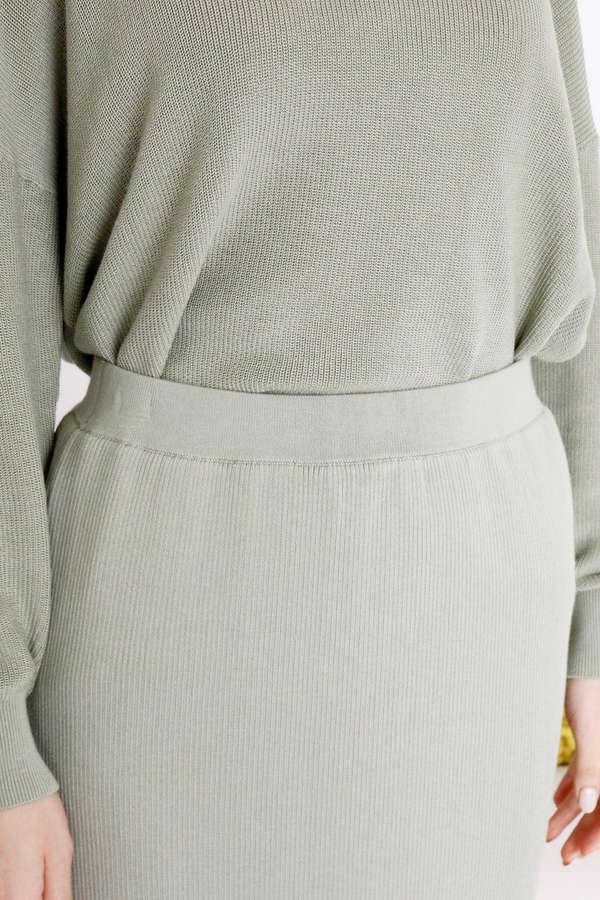 コットンモダールニットスカート