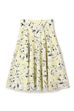 シースルーフラワープリントスカート