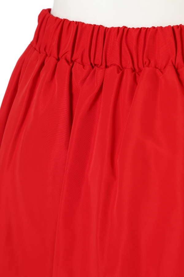 グログランギャザーフレアスカート
