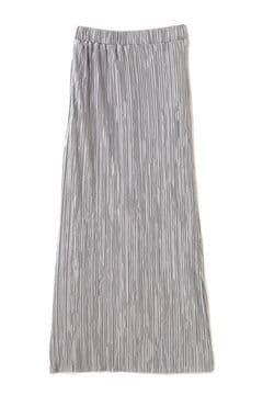 プリーツタイトミモレスカート