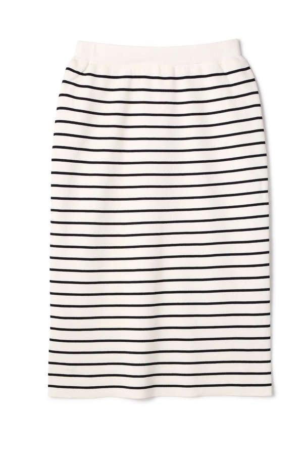 【先行予約_5月上旬お届け予定】総針Vネック五分袖セットアップスカート