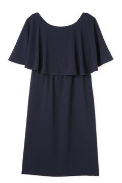 ケープジョーゼットドレス
