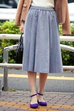 【先行予約_10月中旬お届け予定】コーデュロイギャザーフレアスカート