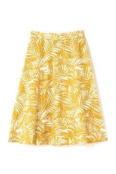 ボタニカルプリントセットアップスカート