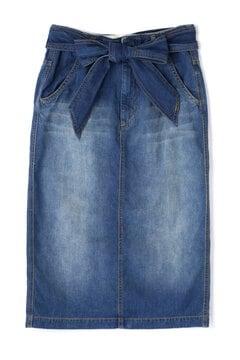 ベルト付デニムタイトスカート