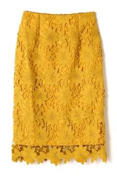 ビックフラワーケミカルレースタイトスカート