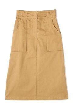 コットンツイルロングタイトスカート