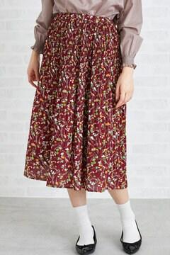 【先行予約_8月下旬お届け予定】消しプリーツフラワープリントスカート