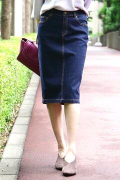 【先行予約_9月中旬お届け予定】ベーシックデニムタイトスカート