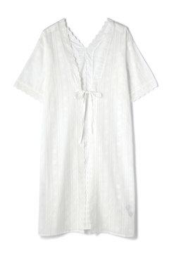 スカラップレースガウンシャツ