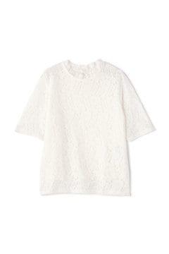 レースハイネックTシャツ