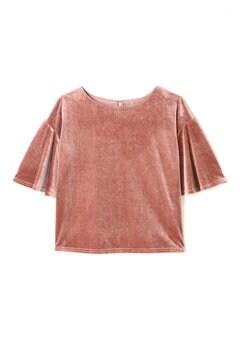 ベロアフレアスリーブTシャツ