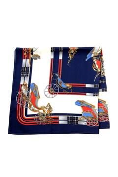 馬車プリントスカーフ