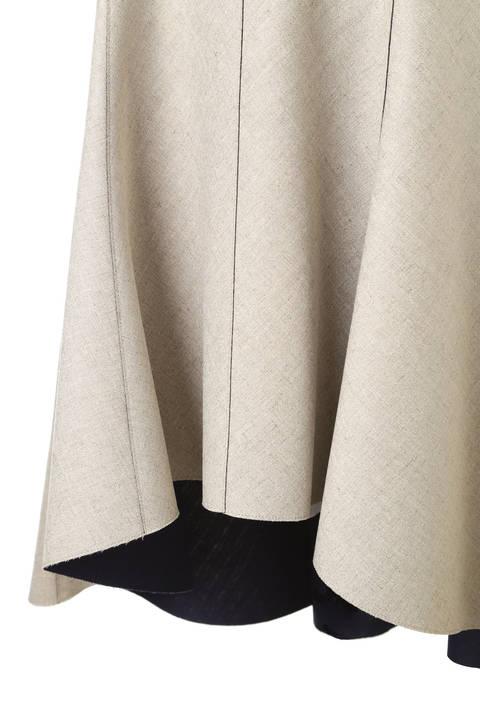 リネンボンディングアシメトリーフレアースカート