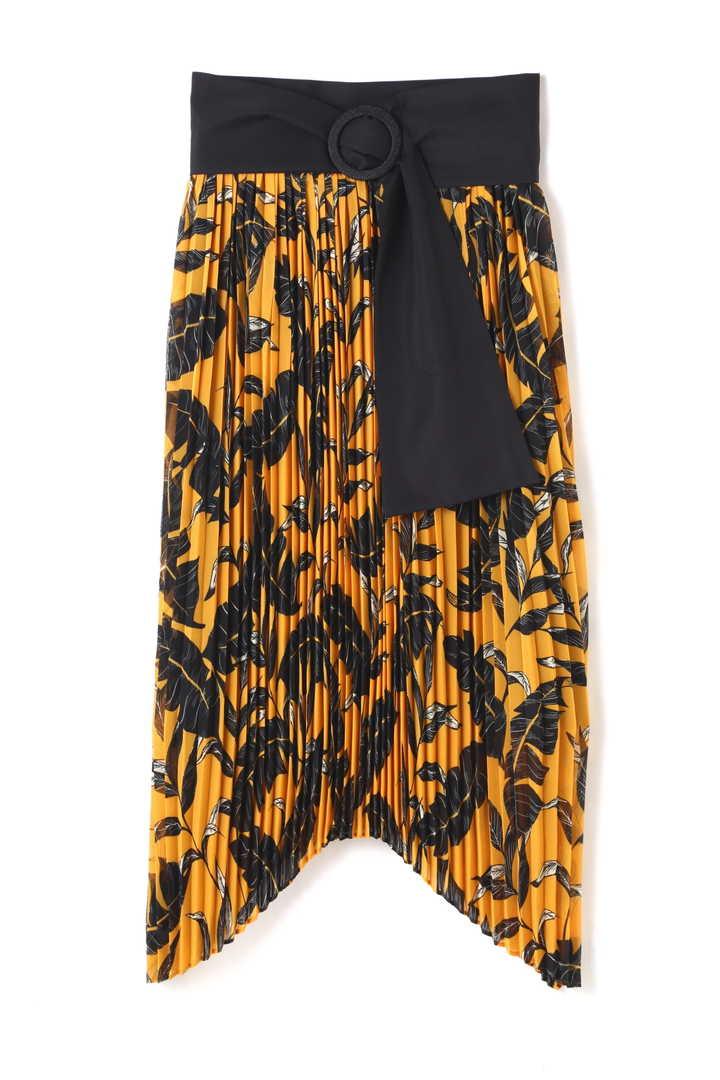 レイヤードフラワープリーツスカート