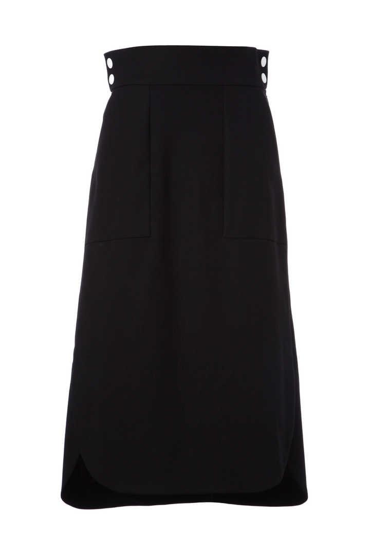 ハイツイストギャバラウンドスリットスカート