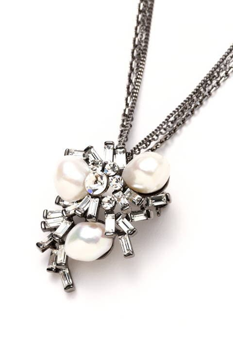 Pearl×Stone Brooch ネックレス
