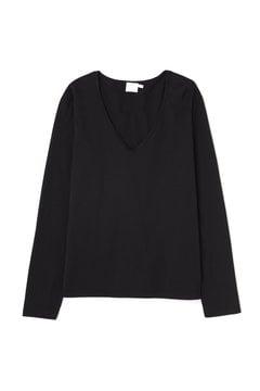 Women's Long-Staple Cotton Long Sleeve U-Neck T-Shirt