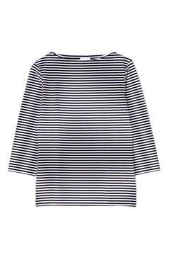 Women's Long-Staple Cotton Long Sleeve Boat Neck