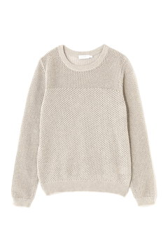WOMEN'S  MIX STITCH EYELET JUMPER