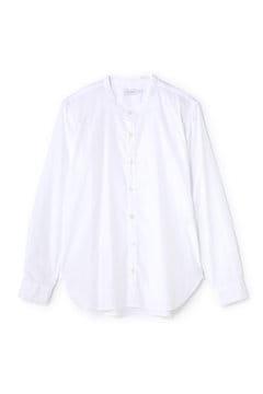 Men's Basic Poplin Collerless Shirt
