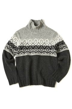 <TODD SNYDER>PATTERN TURTLENECK