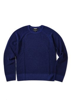 <TODD SNYDER>GARMENT DYED COTTON CREWNECK SWEATER