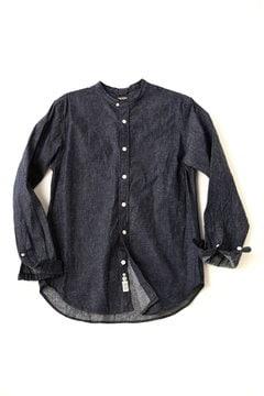 <TODD JAPAN LINE>Indigo Band Collar Shirt