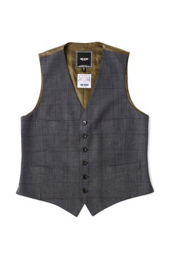 <TODD JAPAN LINE>Window Pane Vest