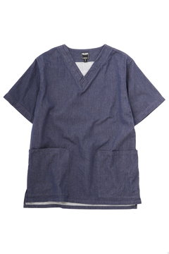 <TODD JAPAN LINE>Denim V-neck Shirts