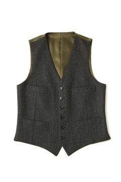 <TODD JAPAN LINE>Black Herring Bone Vest