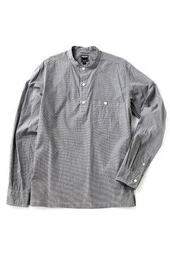 <TODD JAPAN LINE>Grey Check Woven Henley