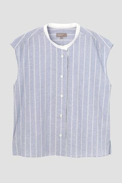 WIDE PJ STRIPE COTTON LINEN