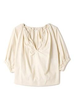 ELIN / Cotton gather half sleeves Top