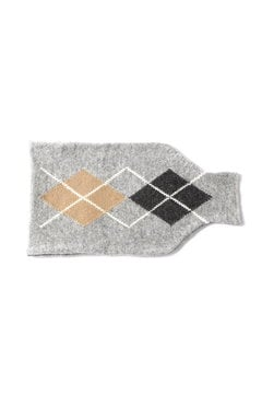 ARGYLE HOT WATER BOTTLE COVER