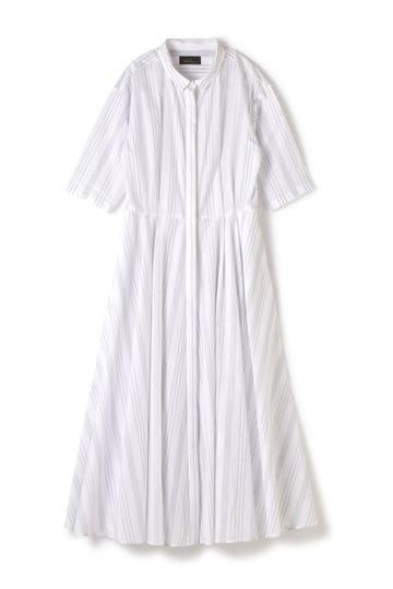 【先行予約 4月上旬 入荷予定】Unaca noir ストライプシャツドレス