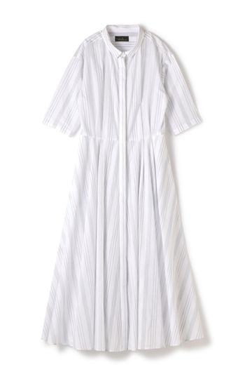 Unaca noir ストライプシャツドレス
