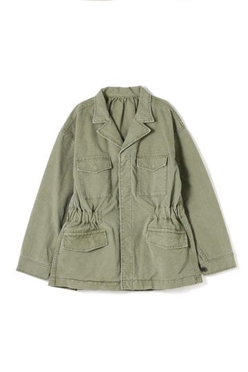 dunadix ウエストゴムミリタリージャケット