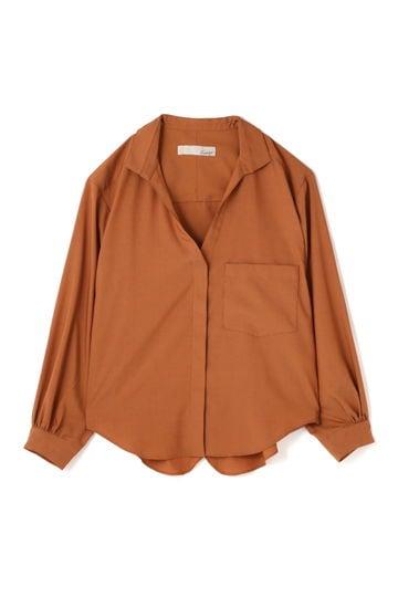 Luxluft ポプリンスラッシュシャツ