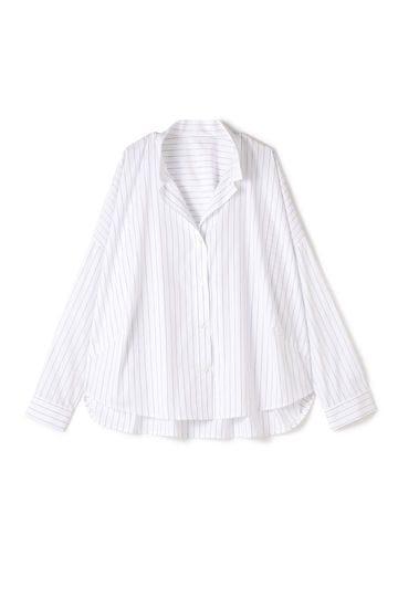 【先行予約 3月下旬 入荷予定】Unaca noir ストライプビッグシャツ