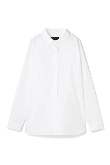 【先行予約 3月下旬 入荷予定】Unaca noir バックロングシャツ