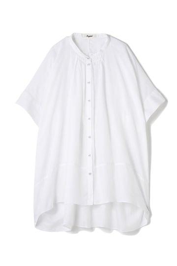 Hermaphrodite ギャザースタンドシャツ