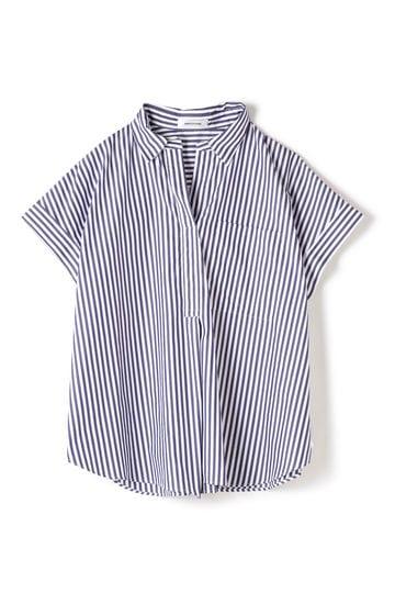 DIRECTOIRE ストライプスキッパー半袖シャツ